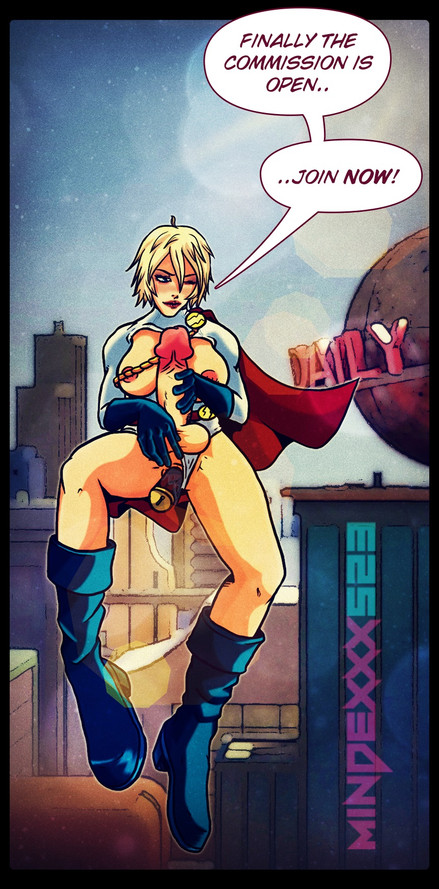 futanari power girl